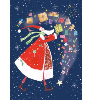 ADVENT CARD-Santa and Presents|Real and Exciting