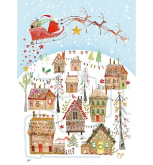 ADVENT CARD-Gingerbread Village|Real and Exciting