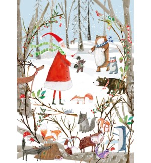 ADVENT CARD-A Woodland Christmas|Real and Exciting