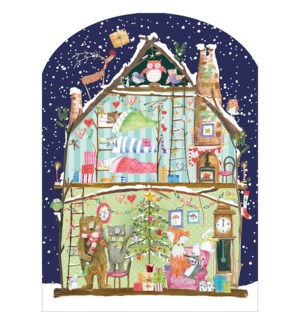 ADVENT-Woodland Log Cabin|Real and Exciting
