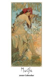 Alphonse Mucha  wall Calendar 12.5x19 Retrospect