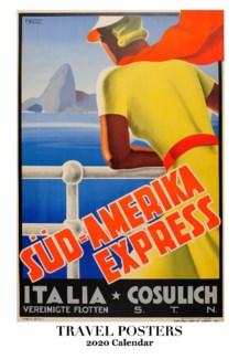 Travel Posters  WallCalendar  12.5x19 Retrospect