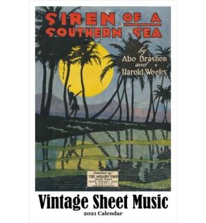 CALENDAR - Vintage Sheet Music|Retrospect