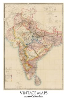 Vintage Map Calendar 12.5x19 Retrospect