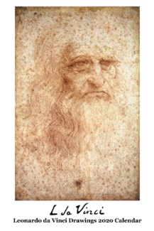 Leonardo de Vinci Drawings Calender 12.5x19 Retrospect
