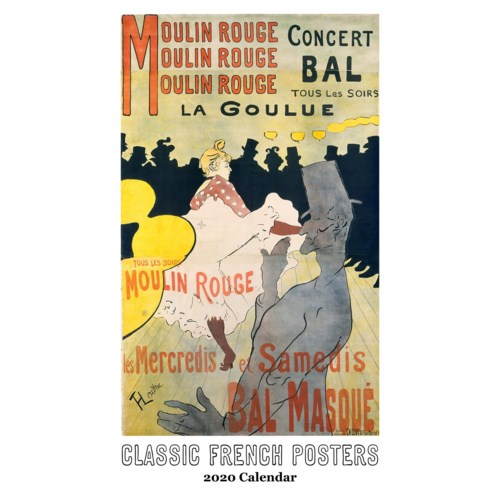 Classic French Posters Calendar 12.5x19|Retrospect