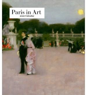 Paris in Art Desk Calendar 6.25x5.5 Retrospect