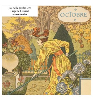La Belle Jardinière Eugène Grasset 2020 Calendar 12x12|Retro