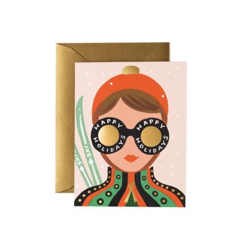 Ski Girl Card|Z