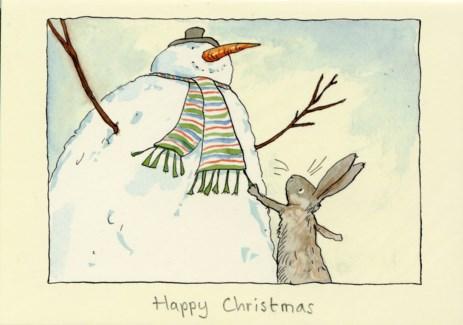 Happy Christmas Snowman Two Bad Mice