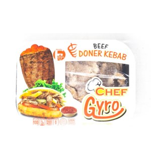 DONER KEBAB/CHEF GYRO (BEEF) 228GR X12 PACKS