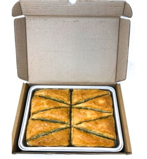 TRIANGLE SHAPPED SLICE BAKLAVA W PISTACHIO 1.400GR