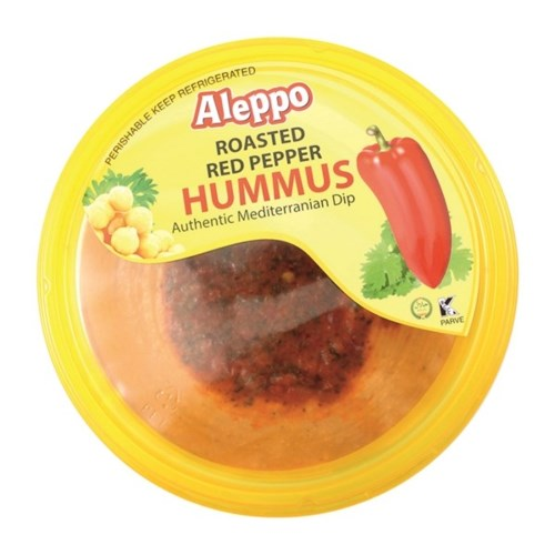 HUMMUS W/ROASTED RED PEPPER 10OZx12