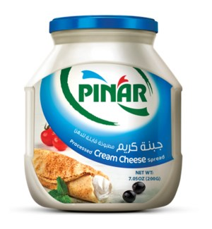 SPREADABLE PROCESSED CREAM CHEESE 200grX12