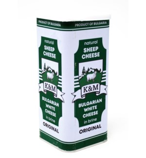 BULGARIAN SHEEP CHEESE 800GRx8 TIN
