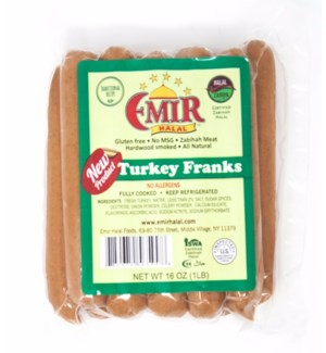 TURKEY FRANKS 1LBx12