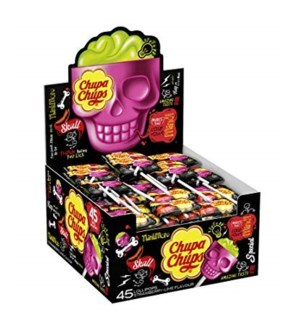 CHUP CHUPS 3S SKULL STRAWBERRY(25PCS)BOX