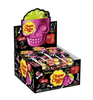 CHUPA CHUPS 3D SKULL STRAWBERRY 15grX25