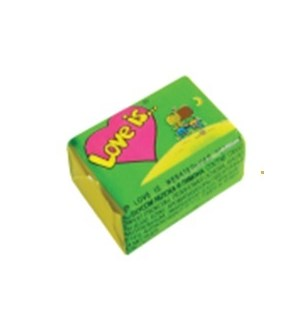 LOVE IS PINEAPPLE-ORANGE CHEWING GUM (4.2GRX100)X1