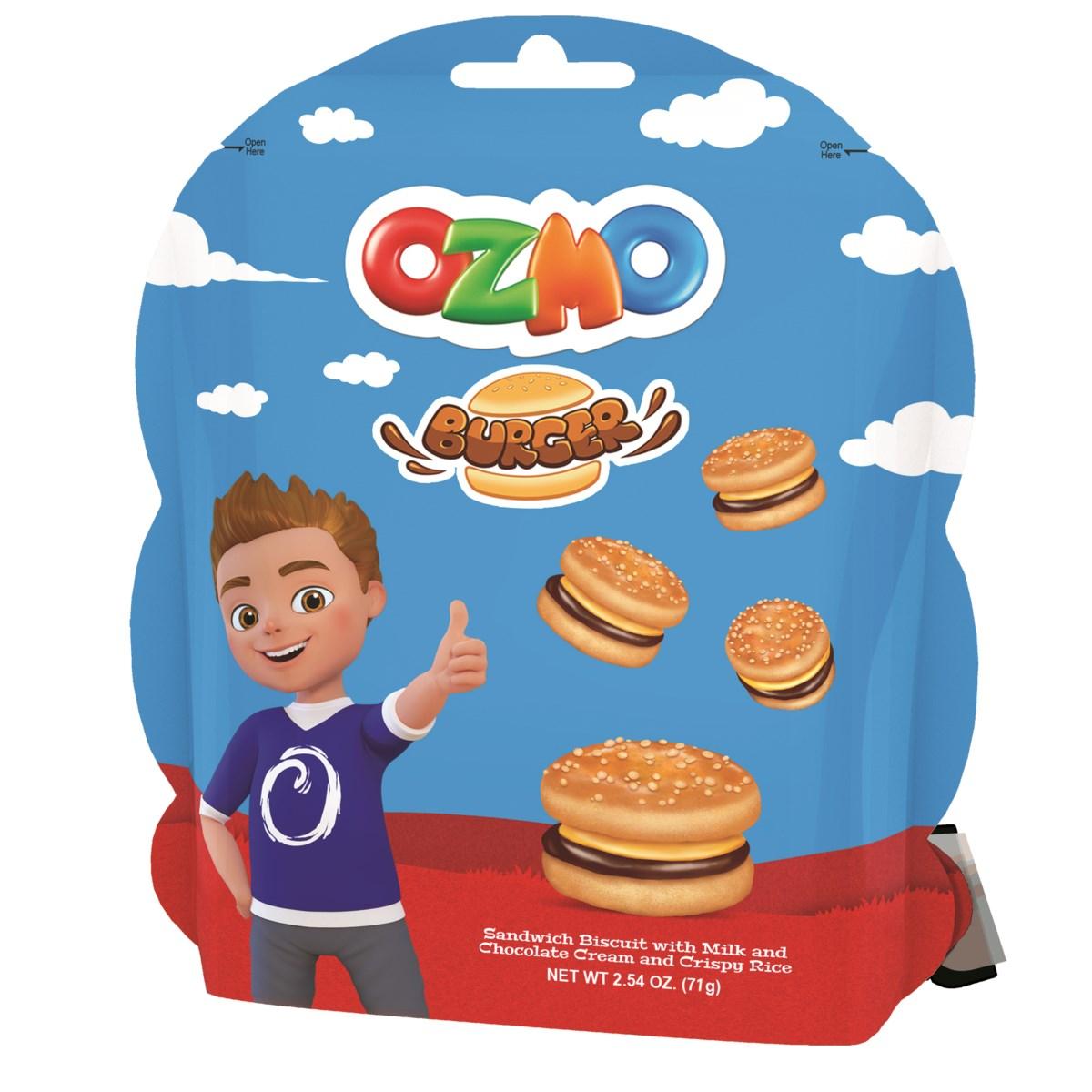 OZMO BURGER CHOCOLATE CREAM COOKIES 71GRX8