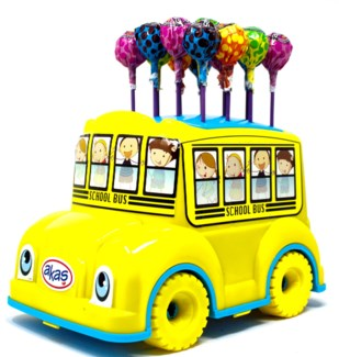 Lollipop School Bus 100pcs x 4