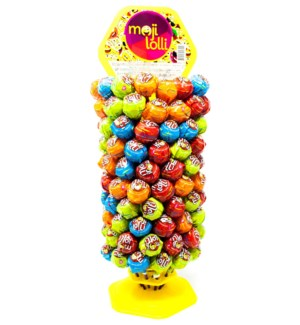 MOJI LOLLIPOP (BUBBLE GUM) 16grx120x1