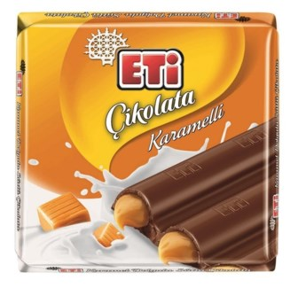 MILK CHOCOLATE W/CARAMEL 70GRx6
