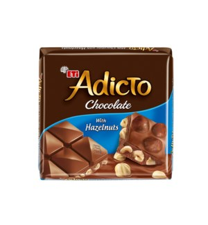 ADICTO CHOCOLATE W/HAZELNUT (70GRx6)x12