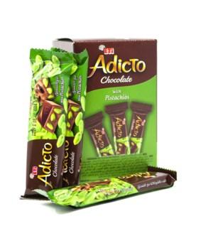ADICTO CHOCOLATE W/PISTACHIO (30GRx12)x12