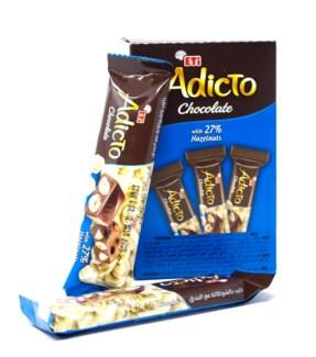 ADICTO CHOCOLATE W/HAZELNUT (30GRx12)x12