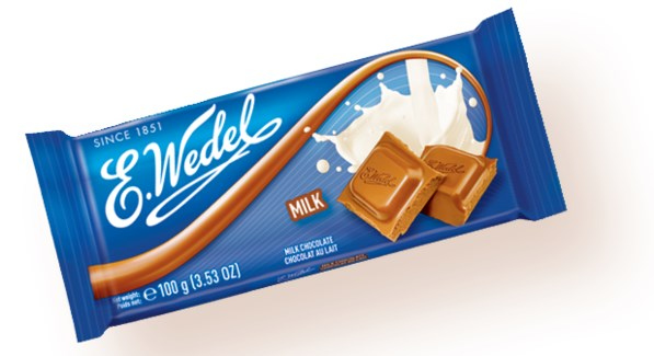 MILK CHOCOLATE (WEDEL) 100GRx20