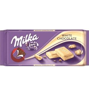WHITE CHOCOLATE WEISSE 100GRx22