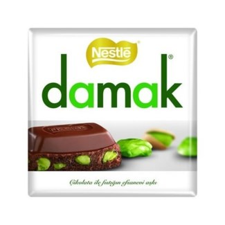 DAMAK MILK CHOCOLATE W/PISTACHIO 65GRx6
