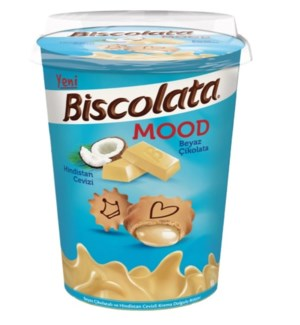BISCOLATA MOOD COCONUT 125G*24 CUP