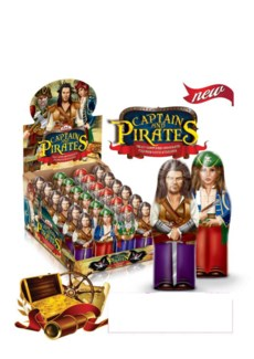 FIGURE CHOCO CAPTAIN & PIRATES 38Gx24x6 (SUMMER PROMO)