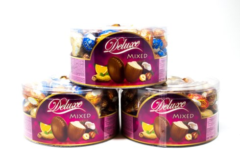 Delight Milk Chocolate Eggs Filled With Cream (Assorted) 800GRX12