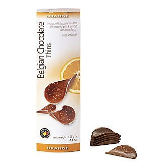 Belgian Chocolate Thins Orange 80gr x 12