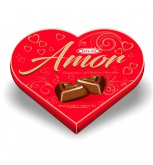 AMOR TRUFFLE RED HEART 100GRx24