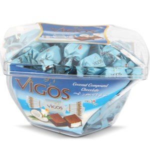 VIGOS COMPOUND CHOCOLATE DONENCE MICA COCONUT 500GRX8