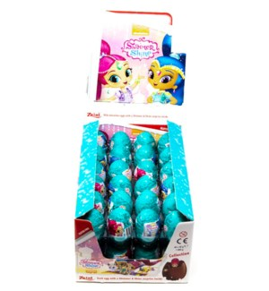 ZAINI SHIMMER SHINE CHOCOLATE EGGS 20GRx48