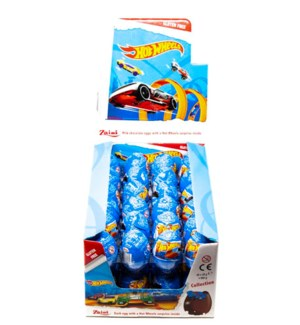 ZAINI HOT WHEELS CHOCOLATE EGGS 20GRx48