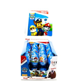 ZAINI PAW PATROL CHOCOLATE EGGS 20GRx48