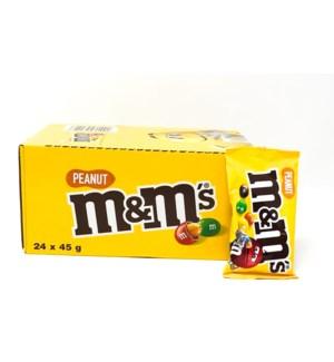 M&M CHOCO PEANUT 45GRX24