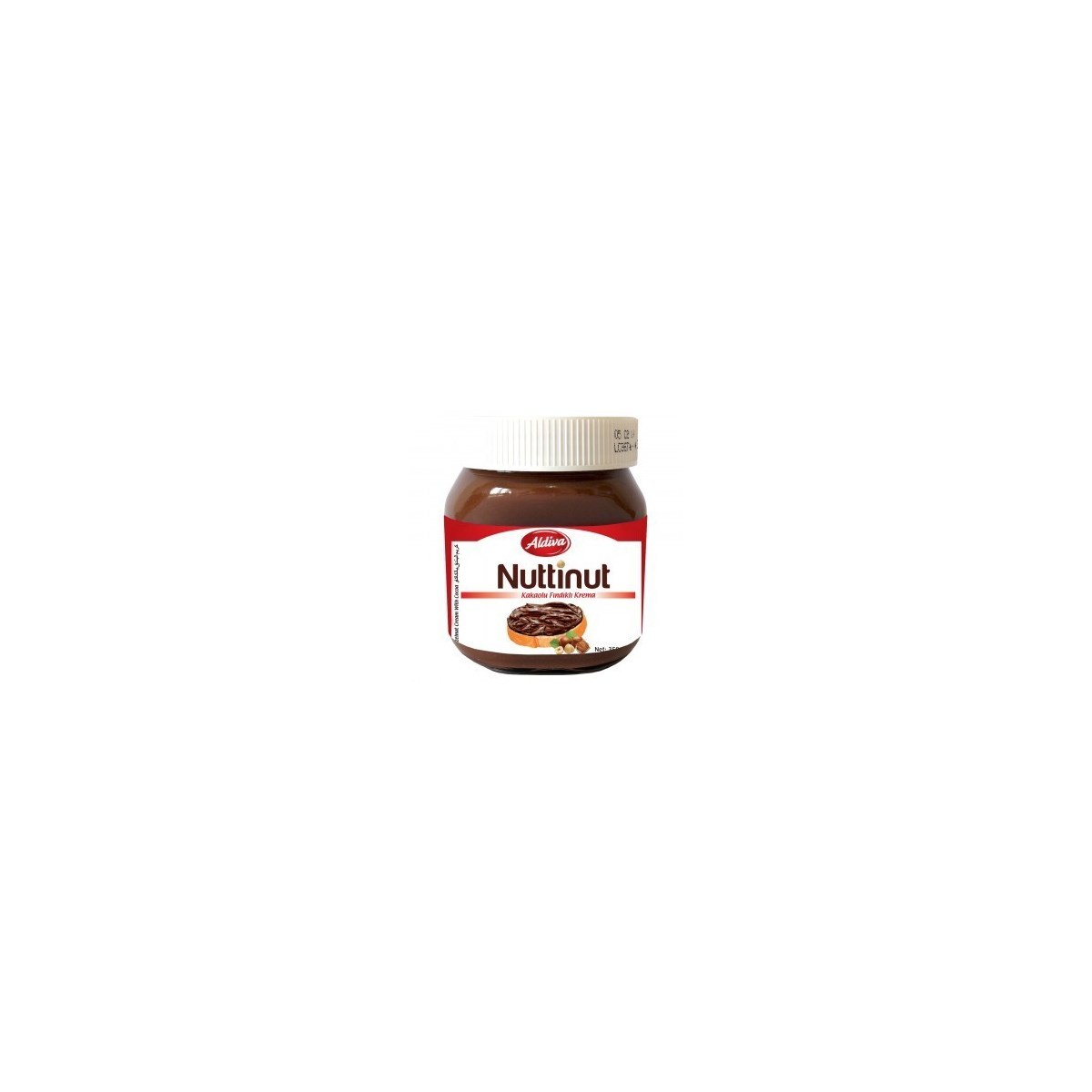NUTTINUT CREAM CHOCOLATE GLASS 350 GR X 12