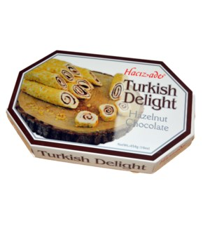 DELIGHT ROLLED W/HAZELNUT & CHOCO CREAM  450GRx12