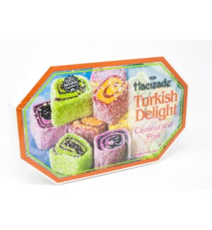 DELIGHT ROLLED W/MIX FRUITS  & COCONUT  454GRx12