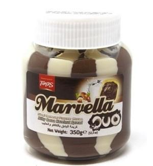 DUO-COCOA SPREAD W/HAZELNUT  350GRx12 IN JAR