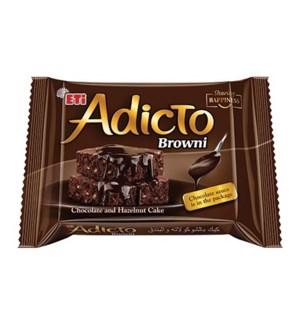 ADICTO BROWNIE CAKE W/HAZELNUT 200GRx12