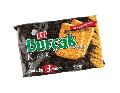 BURCAK WHOLE WHEAT 393GRx12