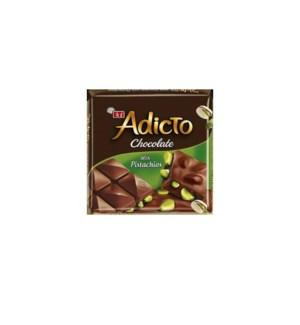 ADICTO CHOCOLATE W/PISTACHIO (60GRx6)x12